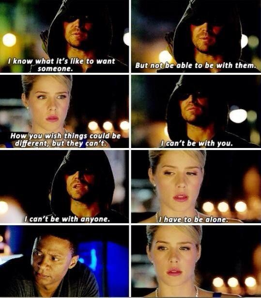 Dont Oliver..... you made thing worse!!! #Olicity #Arrow