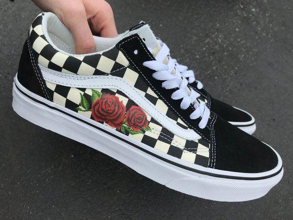 1a824ed73af324 Custom Rose Vans Old Skool Shoes