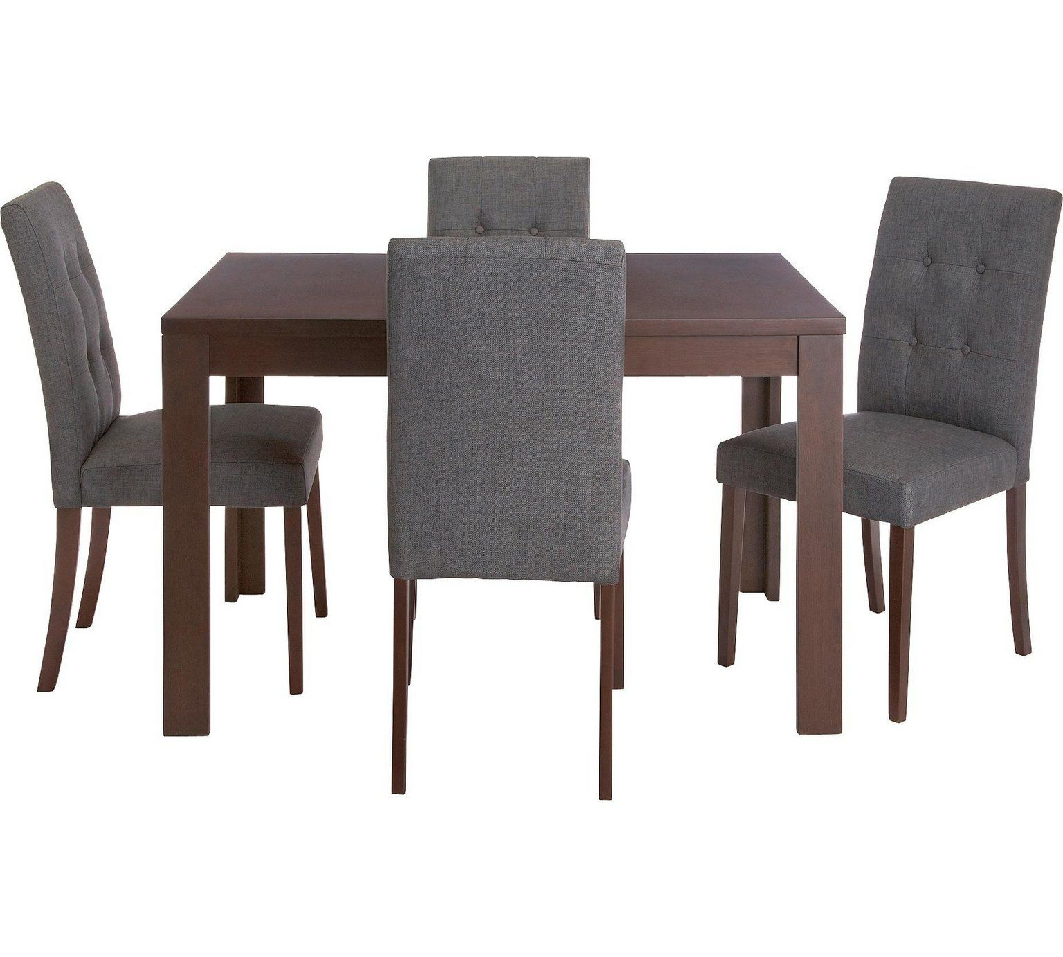 Buy Collection Adaline Ext Dining Table & 9 Chairs Walnut Stain at ...