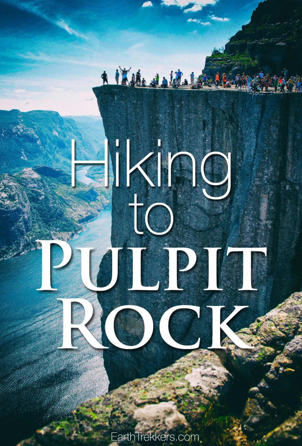 Hiking to Pulpit Rock, Norway with Kids #pulpitrock #norway #hiking #adventuretravel