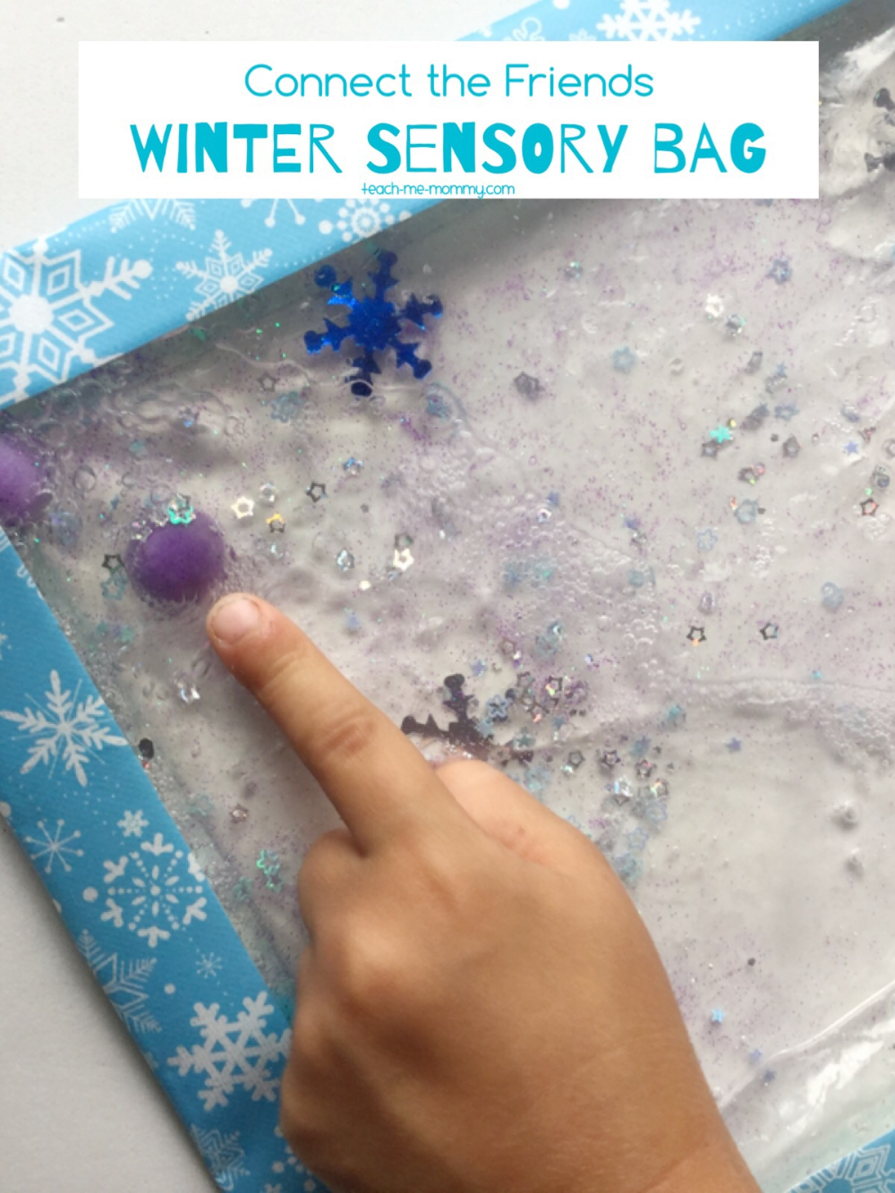 Winter Sensory Bag - Teach Me Mommy #themawinterpeuters