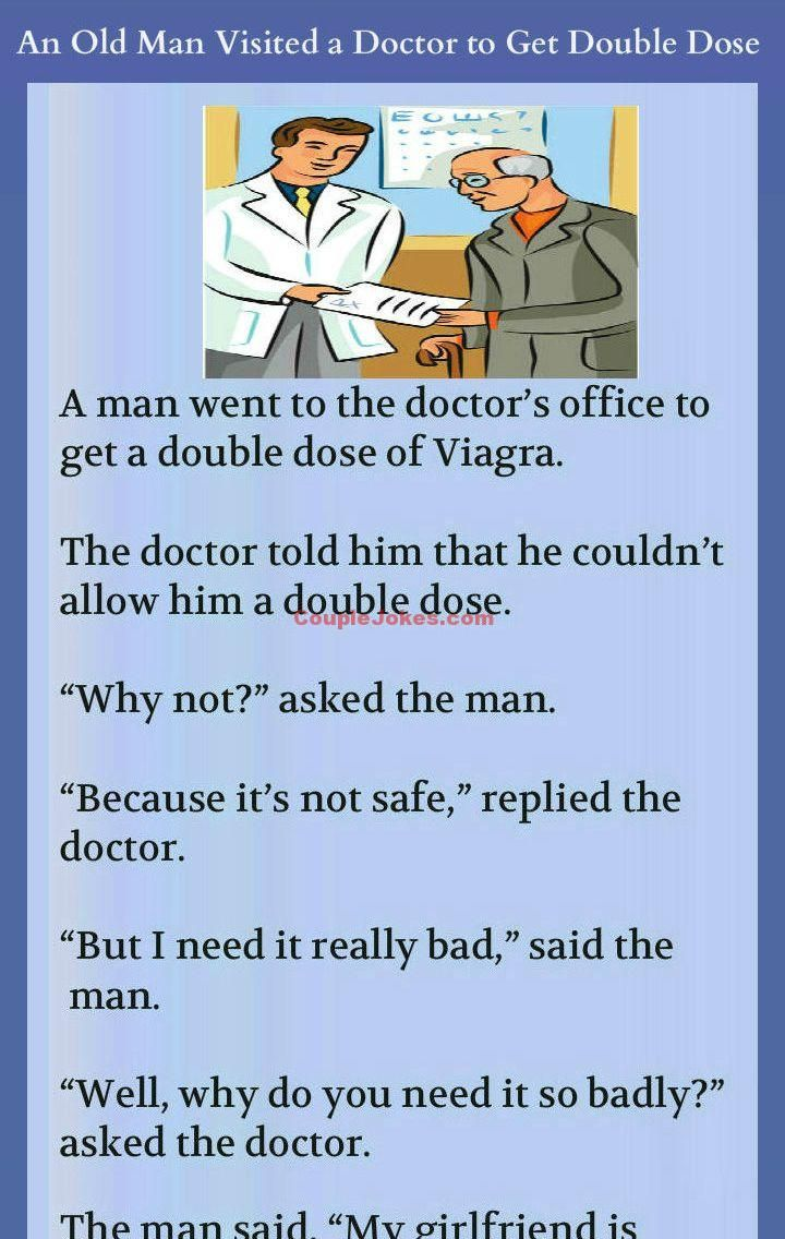 Old Man Wanted To Take Double Dose Of Viagra  Jokes Funny -5297