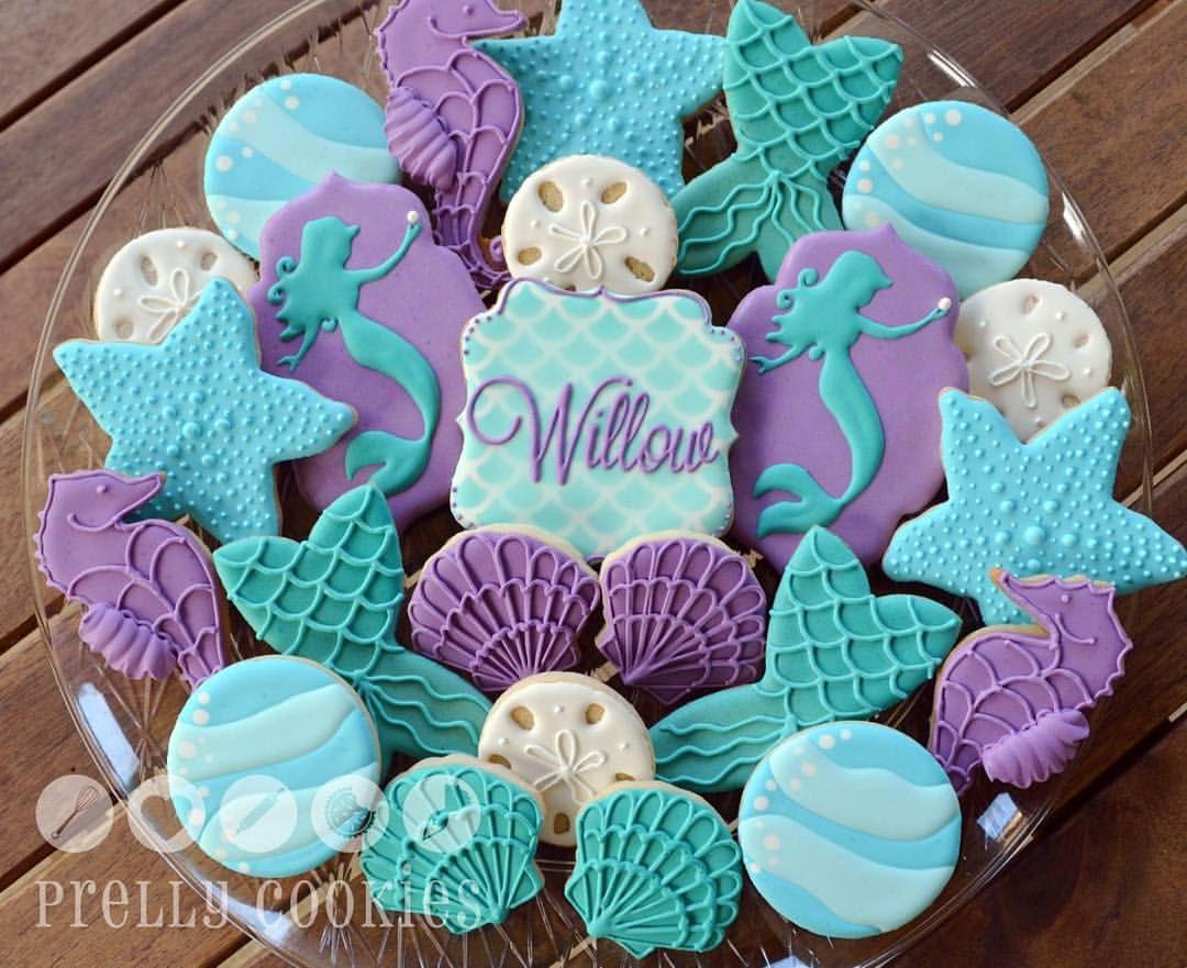 Prelly Cookies Very Last Order Of 2015 Mermaid Theme Cookies