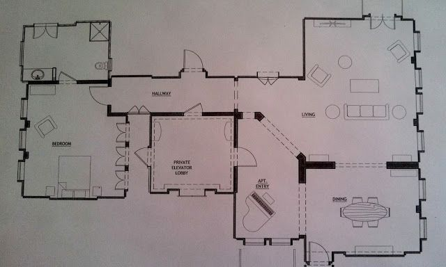 The Sets Revealed Apartment Office Floor Plans Layout Living