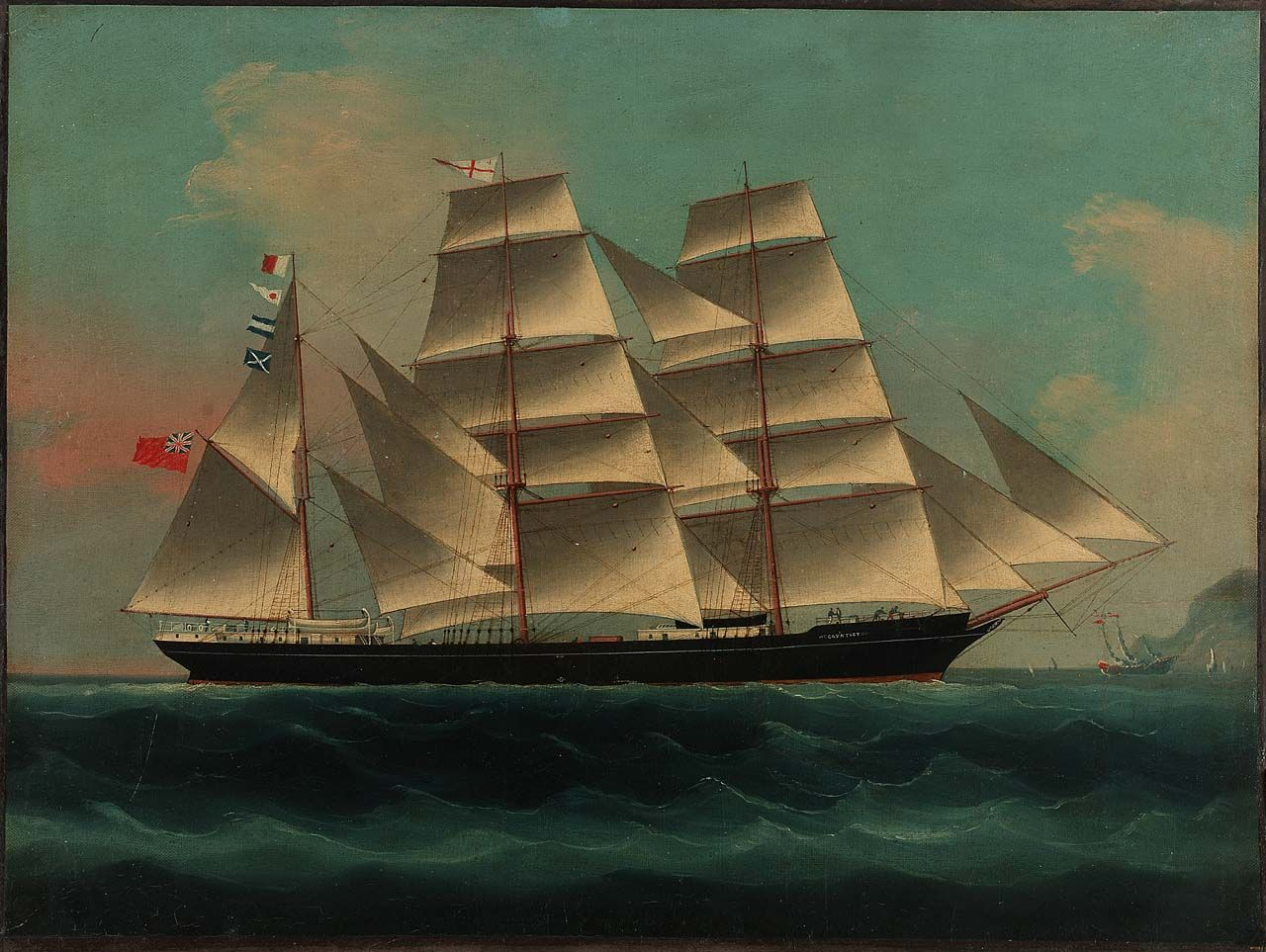 """The clipper """"Gauntlet"""" - National Maritime Museum 19th century"""