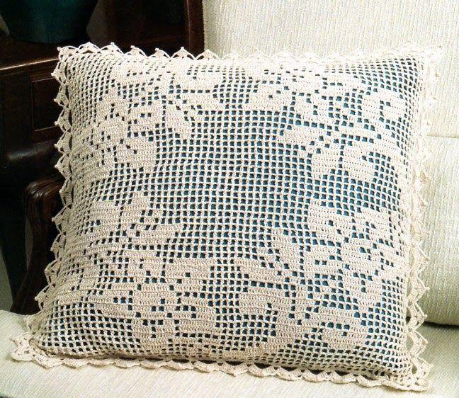 Almofadas de crochê. | Almofada Crochê | Pinterest | Patrones de ...