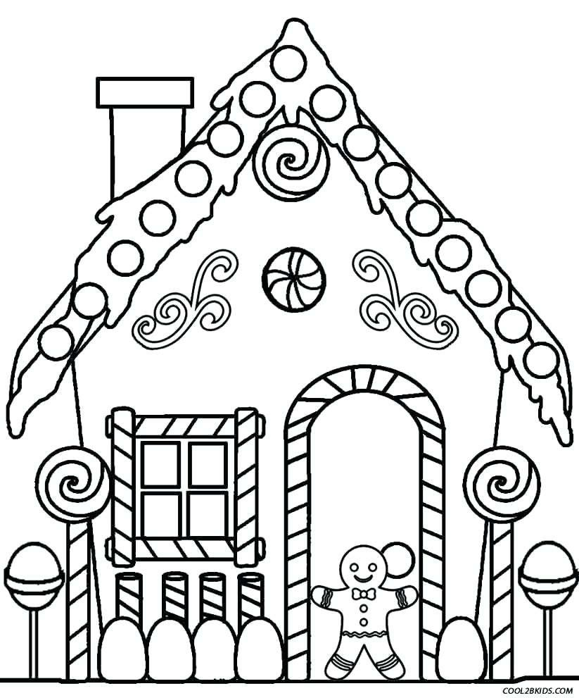 Gingerbread House Coloring Page Elegant Blank Gingerbread House Coloring Pages In 2020 Christmas Coloring Sheets Free Christmas Coloring Pages House Colouring Pages