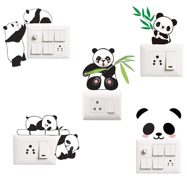 Best Panda Wallart Wall Design In 2020 Wall Painting Decor Wall Paint Designs Creative Wall Painting