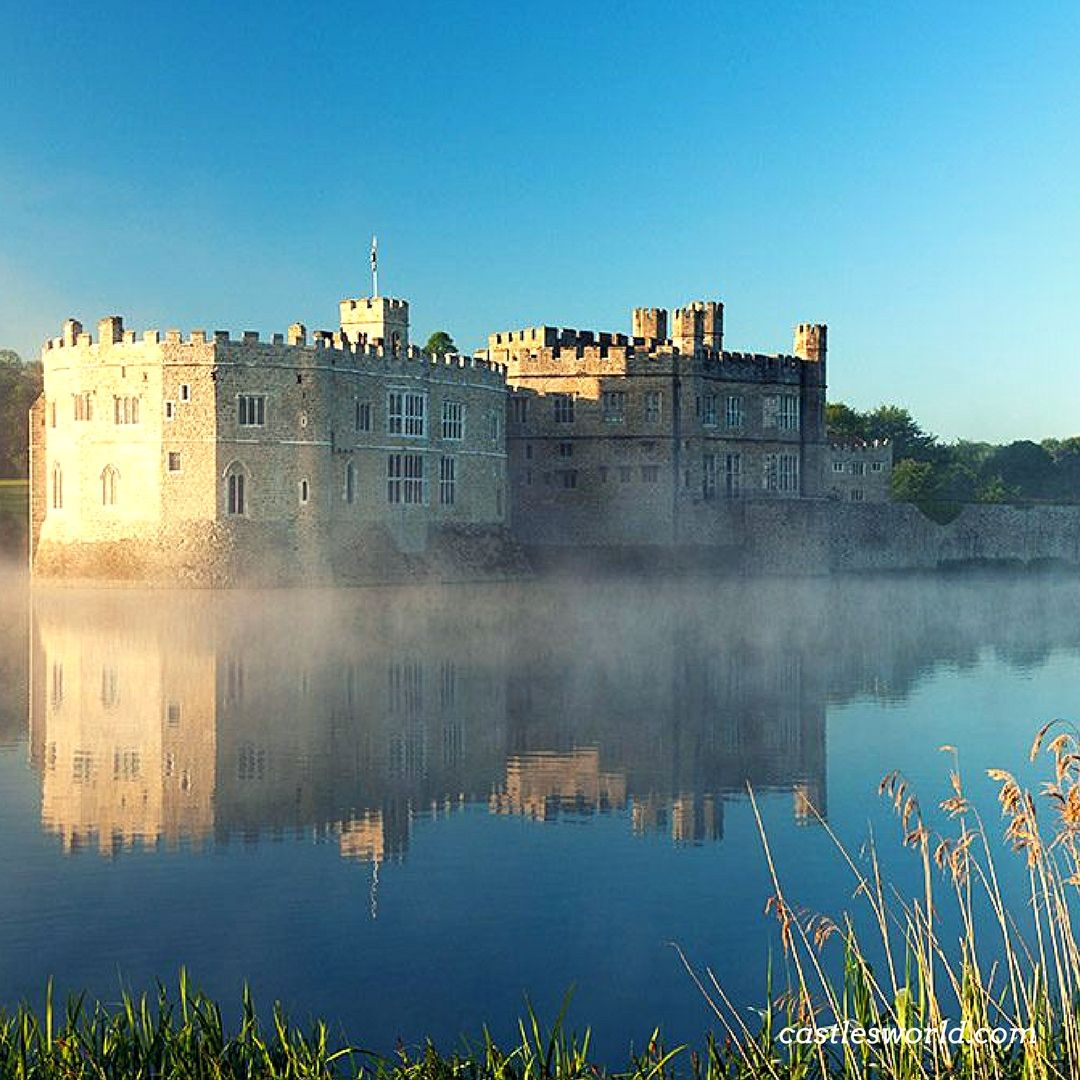 Leeds Castle, Kent, UK A Norman stronghold, the favorite residence of King Edward I, a dwelling for King Henry VIII first wife, Catherine of Aragon, the private property of six of England's medieval queens...and today one of the most visited historic buildings in Britain