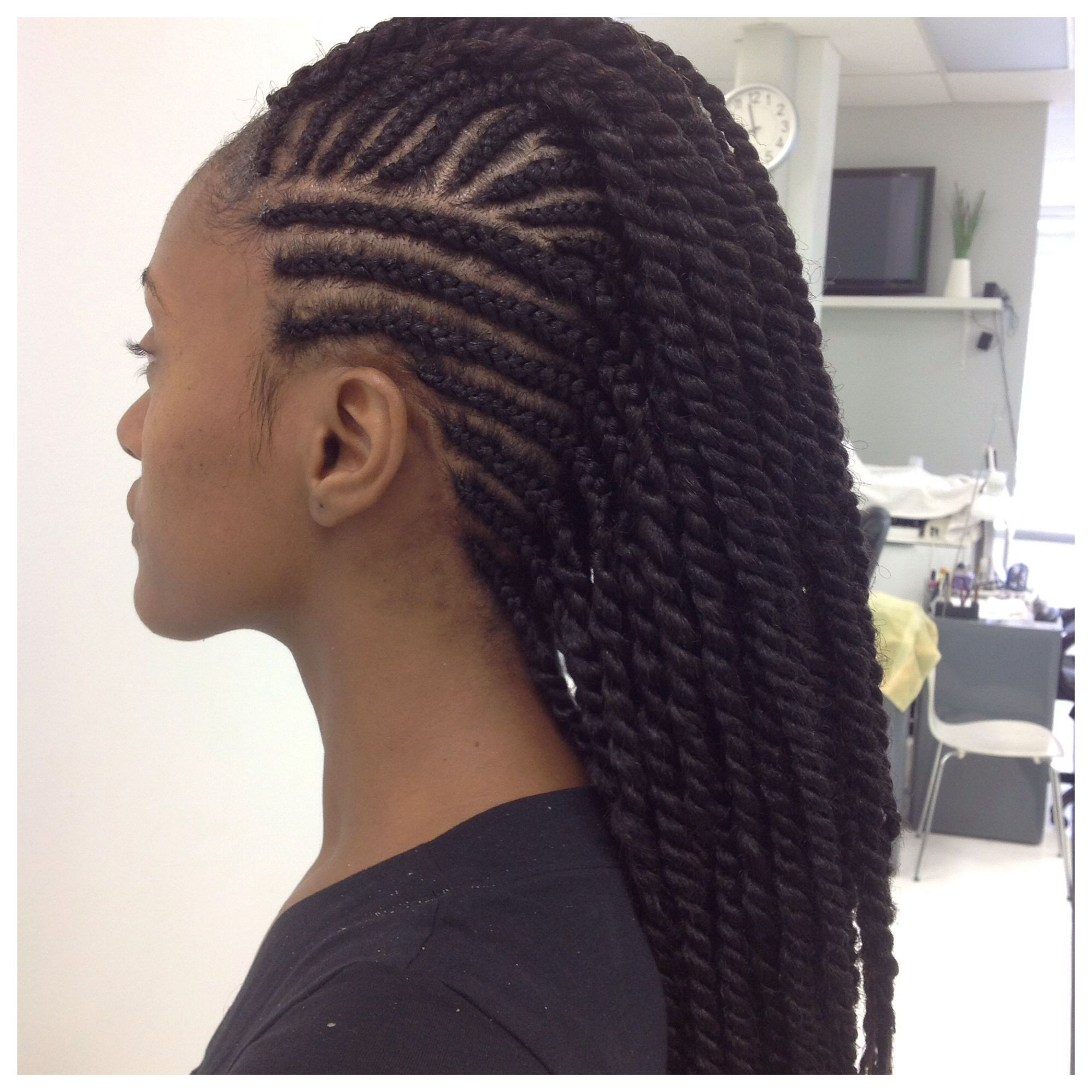 Cornrows With Twists At The End Hair Beauty Natural Hair Styles Braided Hairstyles