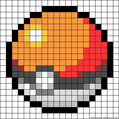 pokeball pokemon perler bead pattern perler beads projects