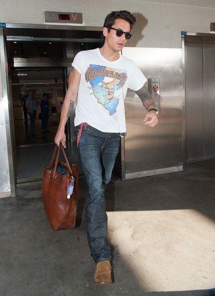 John Mayer Wears a 'Grateful Dead' T-Shirt