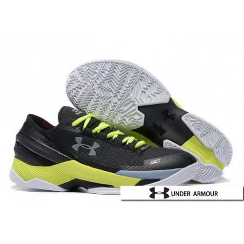 9da1a9636f6 UA Curry 2 Low Shoes - Under Armour UA Curry 2 Low Green Black White Basketball  Shoes