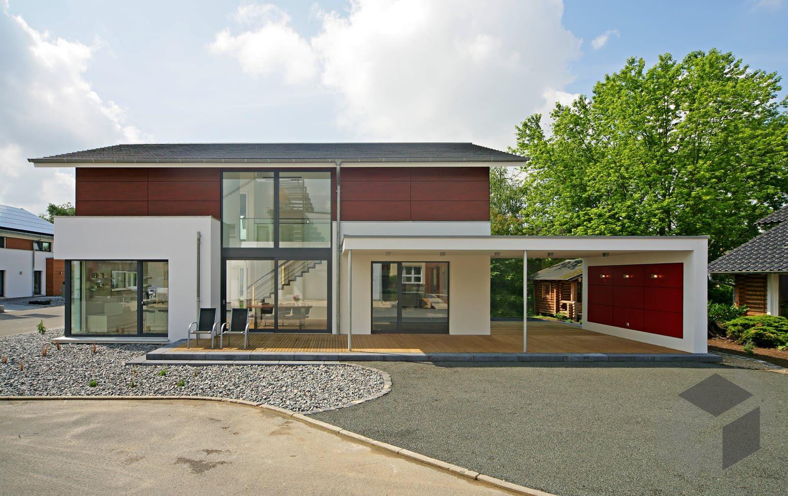 Fertigteilhaus modern satteldach  Dieses und viele Häuser mehr gibt es auf Fertighaus.de – Ihr ...