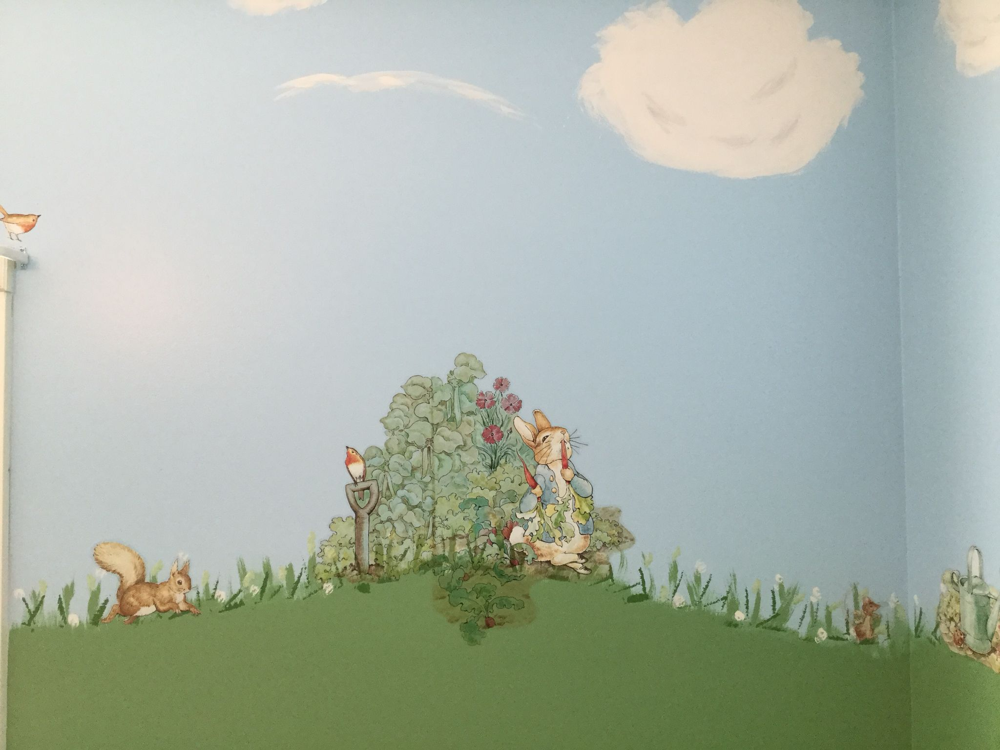 Put The Beatrix Potter Decals On My Painted Scenery Walls Love - How to put a decal on my wall