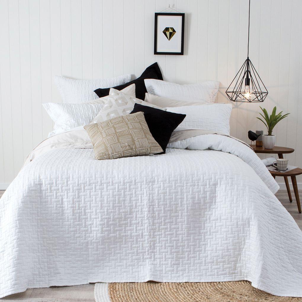 Narbonne white coverlet pillow talk new home pinterest