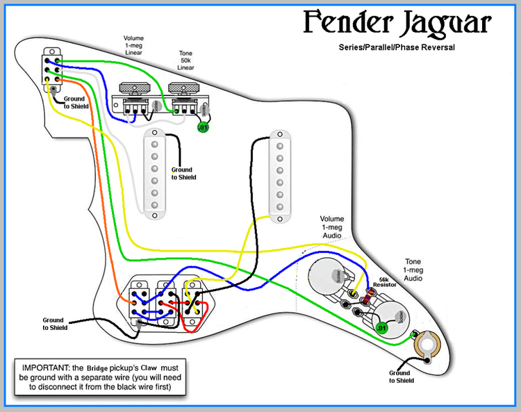 [DIAGRAM_38EU]  Jaguar Series/Parallel wiring diagram | Fender jaguar, Parallel wiring,  Electric guitar | Fender Jaguar Wiring Diagrams |  | Pinterest