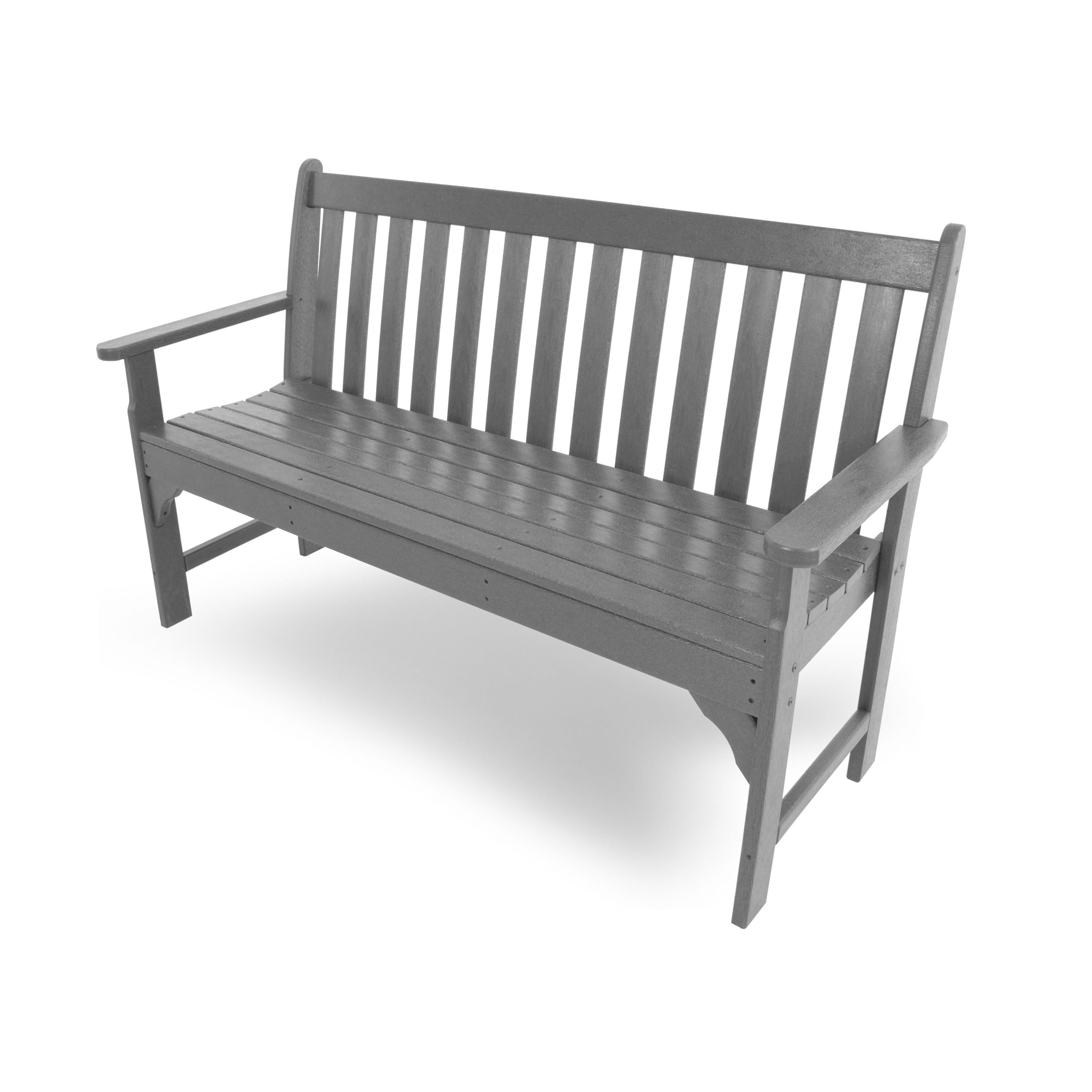 Admirable Polywood Vineyard 60 Inch Outdoor Bench Mahogany Brown Bralicious Painted Fabric Chair Ideas Braliciousco