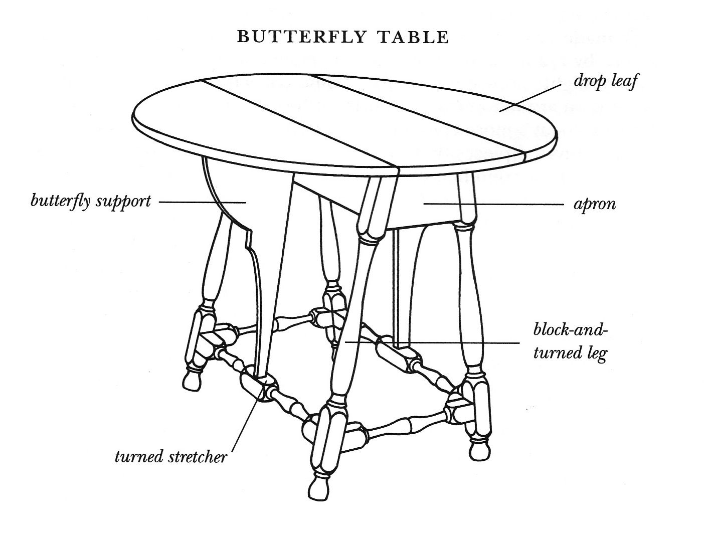 Diagram Of A Butterfly Table In