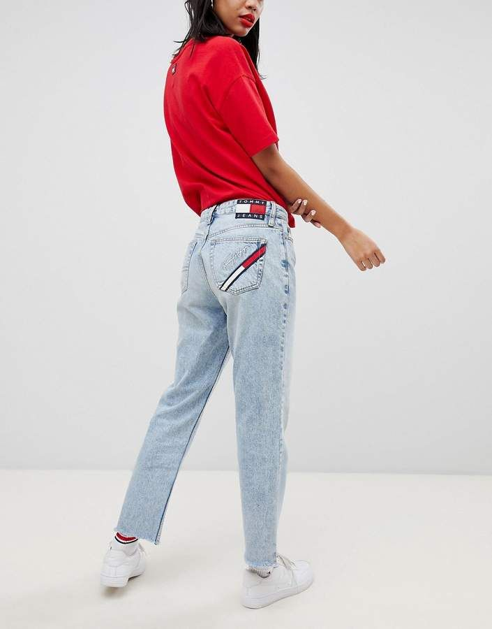 d477e12a Tommy Jeans 90s Capsule 5.0 Mom Jeans | Products | Mom jeans, Jeans ...