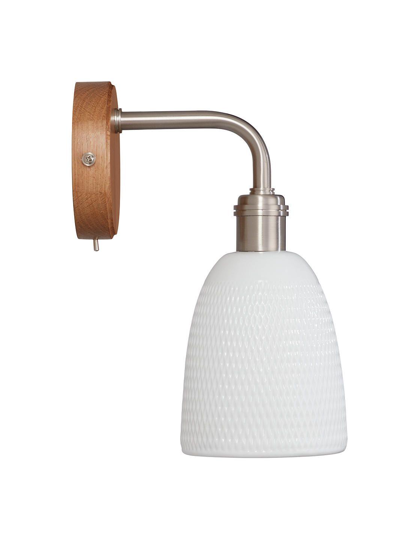 John lewis u partners fitcham wood and ceramic wall light white