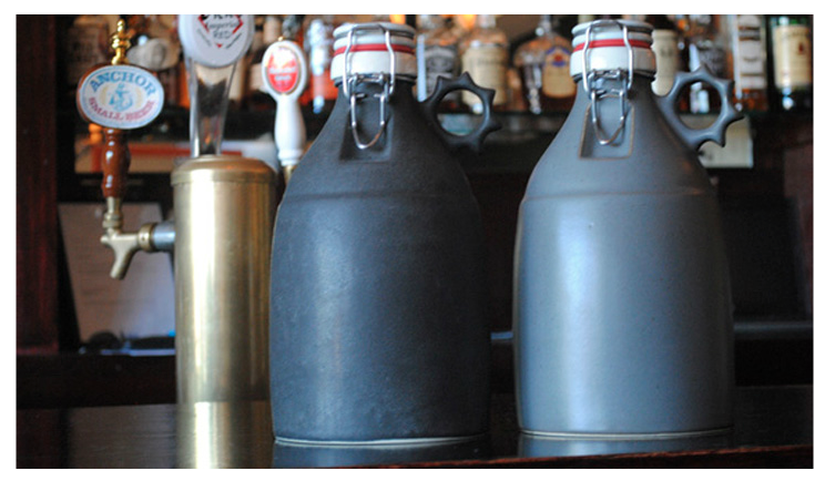 Portland Growler Co. ceramic growlers.  Made in the USA.