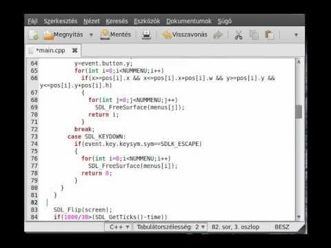 SDL tutorial 18 - make a simple menu (part 3) - YouTube