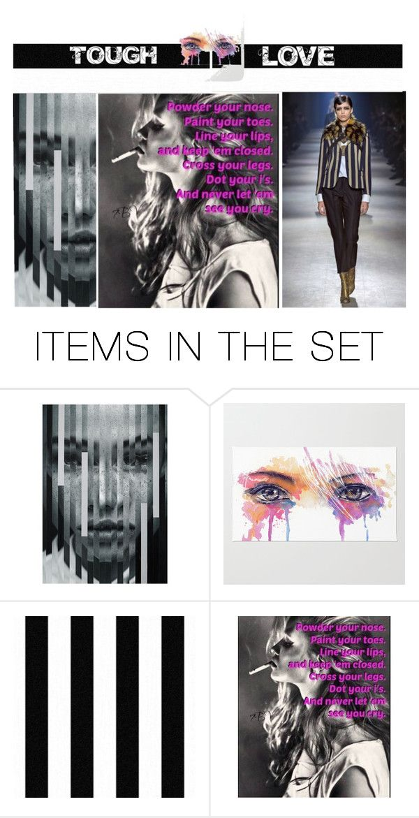 """""""Tough Love"""" by p-tsouros on Polyvore featuring art, artset and artexpression"""