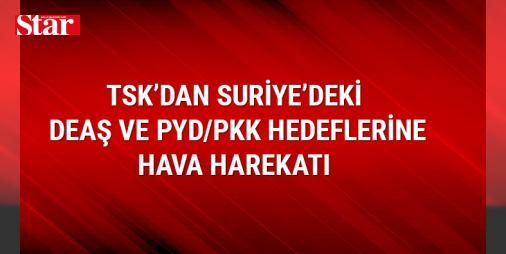 TSKdan Suriyedeki DEAŞ ve PYD/PKK hedeflerine hava harekatı : Türk Silahlı Kuvvetleri Fırat Kalkanı Harekatı kapsamında Suriyedeki DEAŞ ve PYD/PKKya ait hedeflerin düzenlenen hava harekatıyla imha edildiğini açıkladı.  http://www.haberdex.com/turkiye/TSK-dan-Suriye-deki-DEAS-ve-PYD-PKK-hedeflerine-hava-harekati/90182?kaynak=feeds #Türkiye   #hava #Suriye #PYD/PKK #DEAŞ #hedeflerin