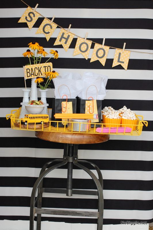 back to school party ideas birthday party pinterest schult te schule und deko. Black Bedroom Furniture Sets. Home Design Ideas