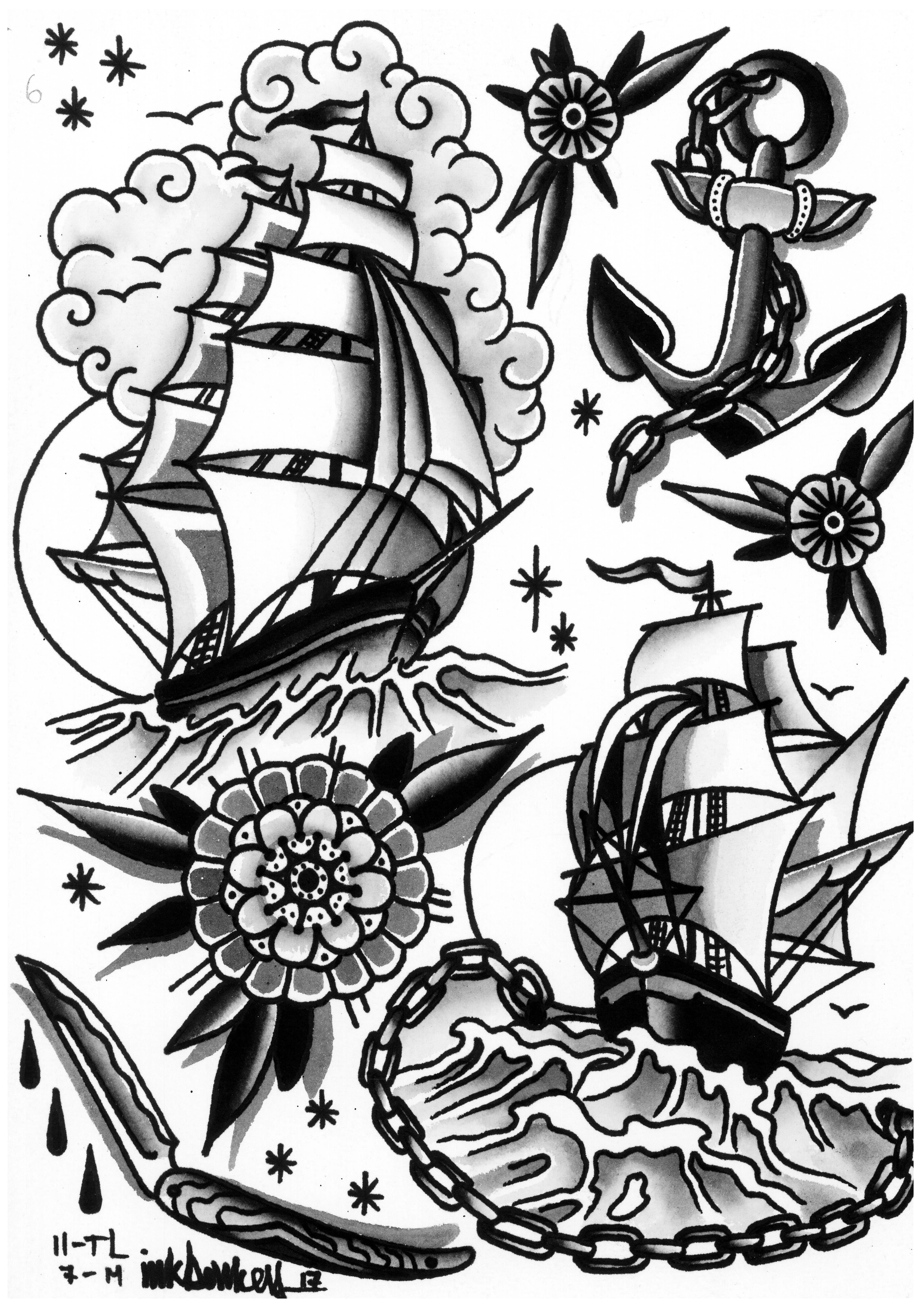 Tattoo Blackwork Traditional Artists Tattoo Tattoos Art Ink Inked Tatto Old School Tattoo Designs Traditional Ship Tattoo Traditional Tattoo Old School