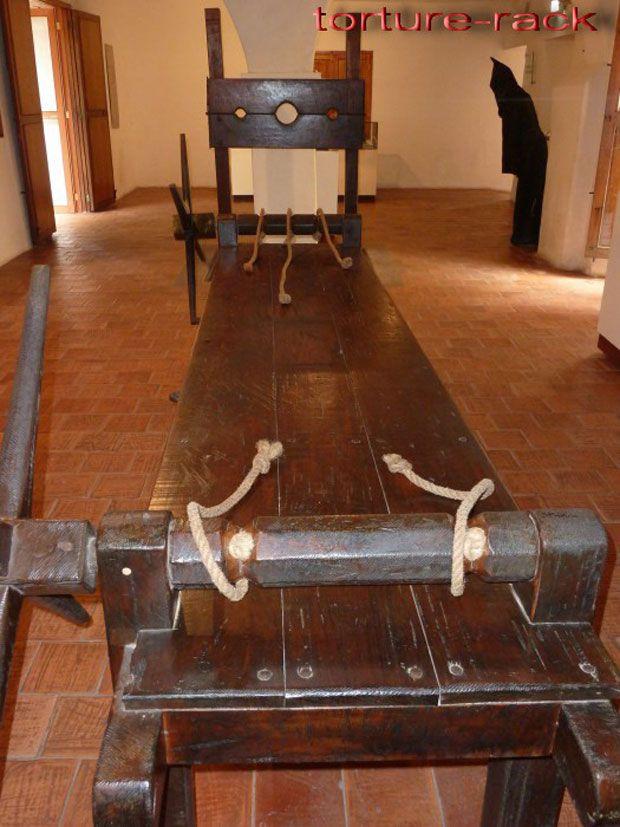 Rack de la inquisición de la esclavitud medieval
