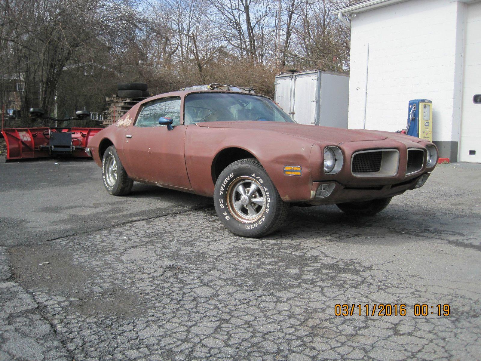 1972 Pontiac Firebird Trans Am Project Car Maintenance/restoration ...