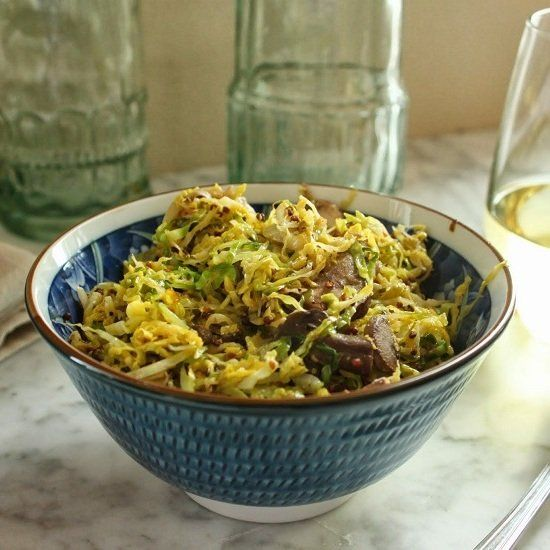Dijon brussels sprouts make a quick, easy and delicious side.