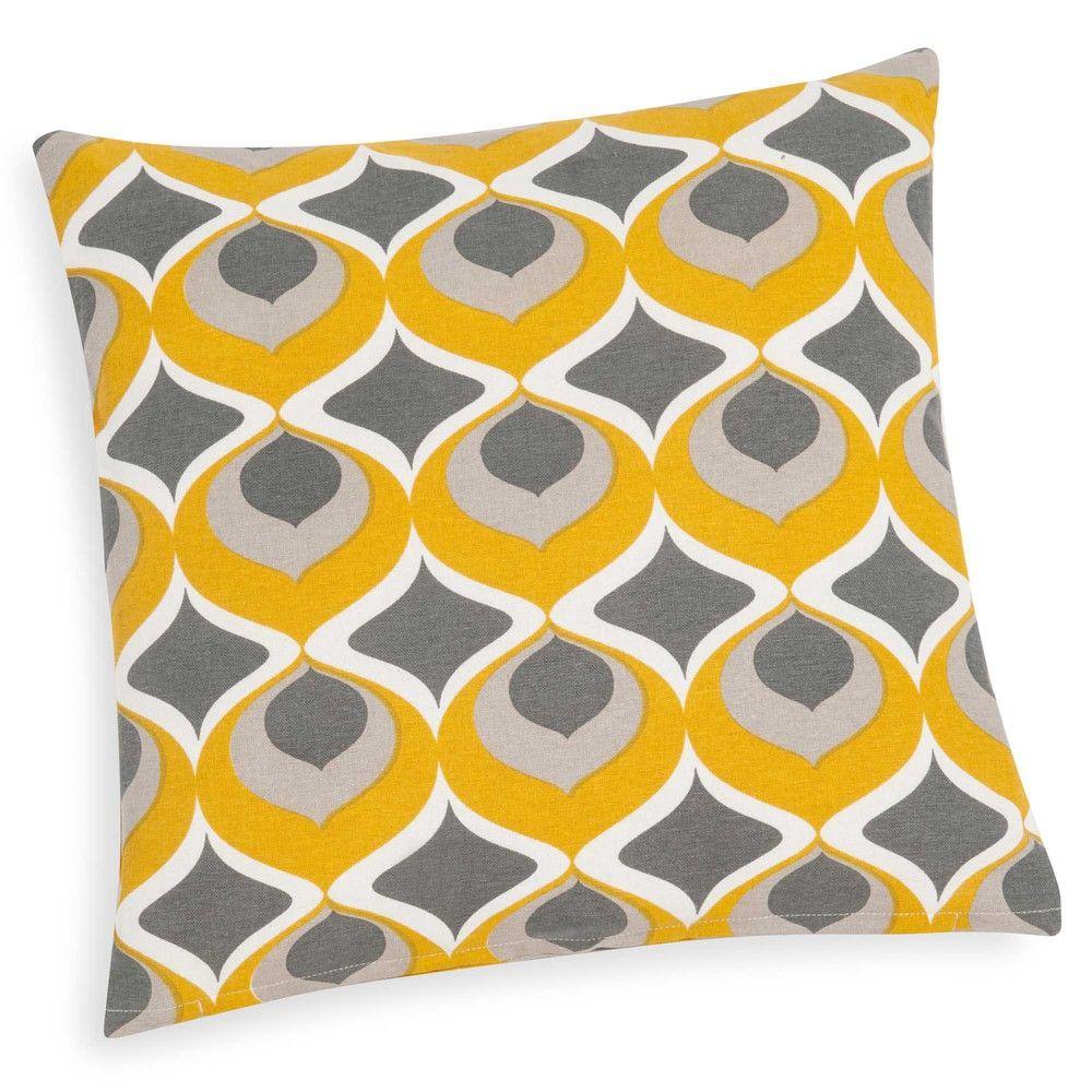 NOLLAN yellow cotton cushion cover 40 x 40 cm   Bedroom   Pinterest ...