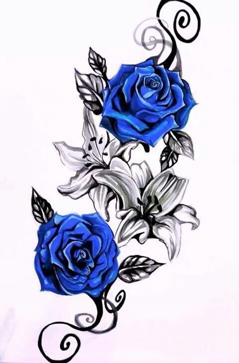 Blue Roses Vine Tattoos Rose Vine Tattoos Rose Tattoo Design
