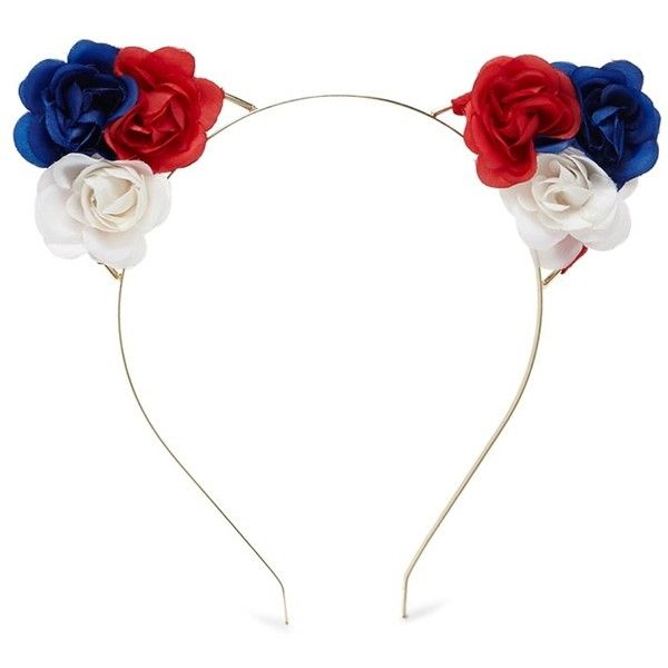 Forever21 Floral Cat Ear Headband ( 4.90) ❤ liked on Polyvore featuring  accessories ec11403efa7
