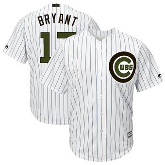0be1948323f Kris Bryant Chicago Cubs Majestic 2018 Memorial Day Cool Base Player Jersey  - White