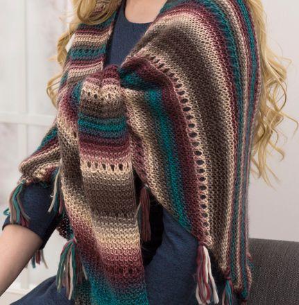 Harvest Lace Shawl Knitting Loom Free Pattern 046 Shawl