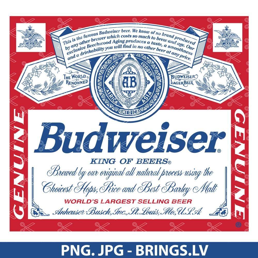 Budweiser Logo Png Jpg Tumbler Decal For Waterslide Budweiser Tumbler Decal Beer Logo