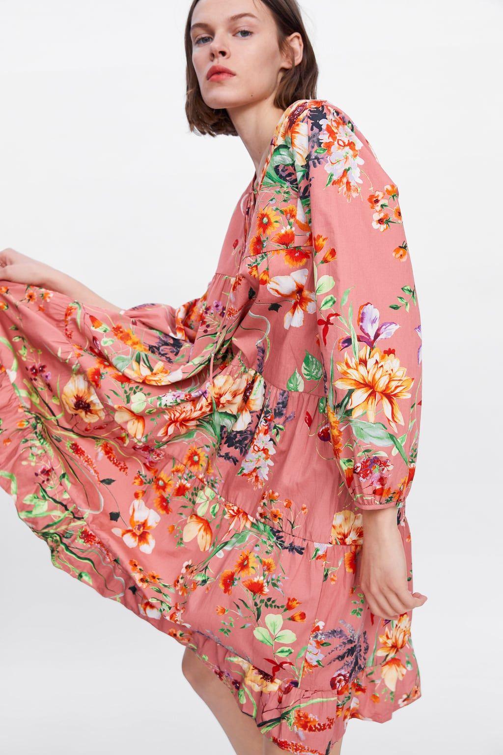Zdjecie 5 Sukienka W Kwiaty Z Zara Women Blouse Dress Outfit Zara