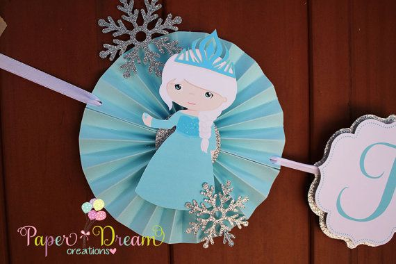 Frozen Birthday banner by PaperDreamCre on Etsy, $32.00
