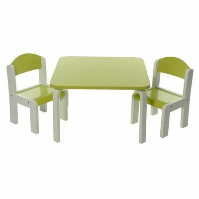 Ensemble Table Et Chaises Enfant Vert En Bois Fabio Momo For Kids