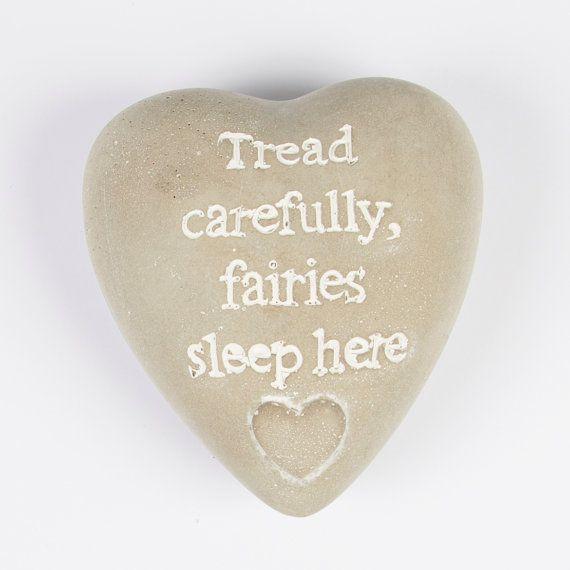 Fairy Garden Pebble by Vintagebellecandles on Etsy