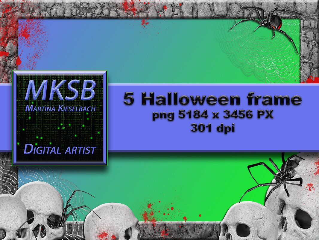 5 Halloween frame in png format, Overlays, Photoshop, Herbst, Rahmen ...