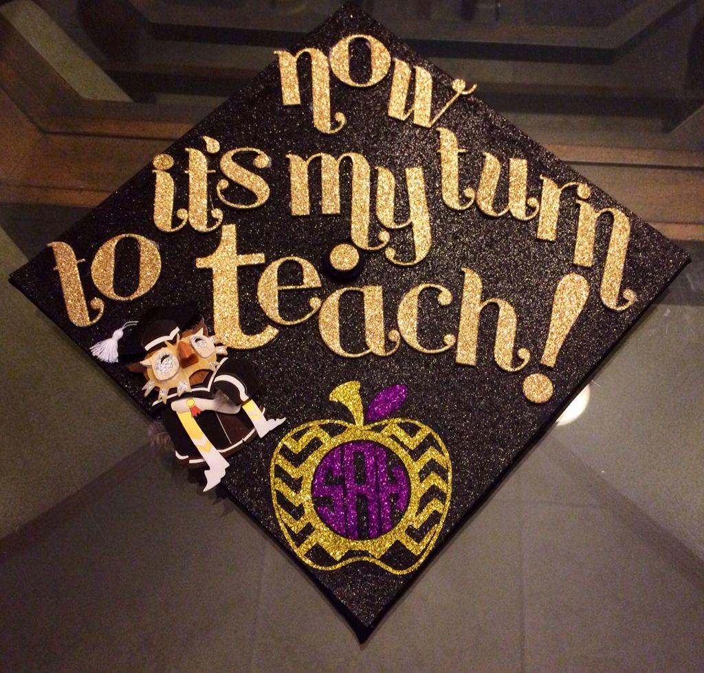 Decorating graduation cap ideas for teachers - Diy Glitter Iron On Chevron Apple Monogram Personalized T Shirt Teacher Gift Applique Teacher Graduation Cap Decoration