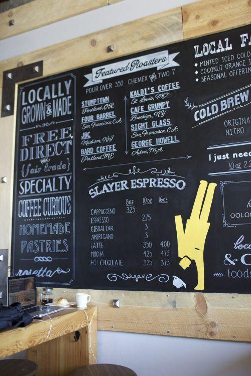Delicieux Chalkboard Coffee Menu. Coffee Shop Walnut Creek Menu. Handpainted.  Designed And Painted By Bee Curious Designs On Etsy. Slayer Espresu2026