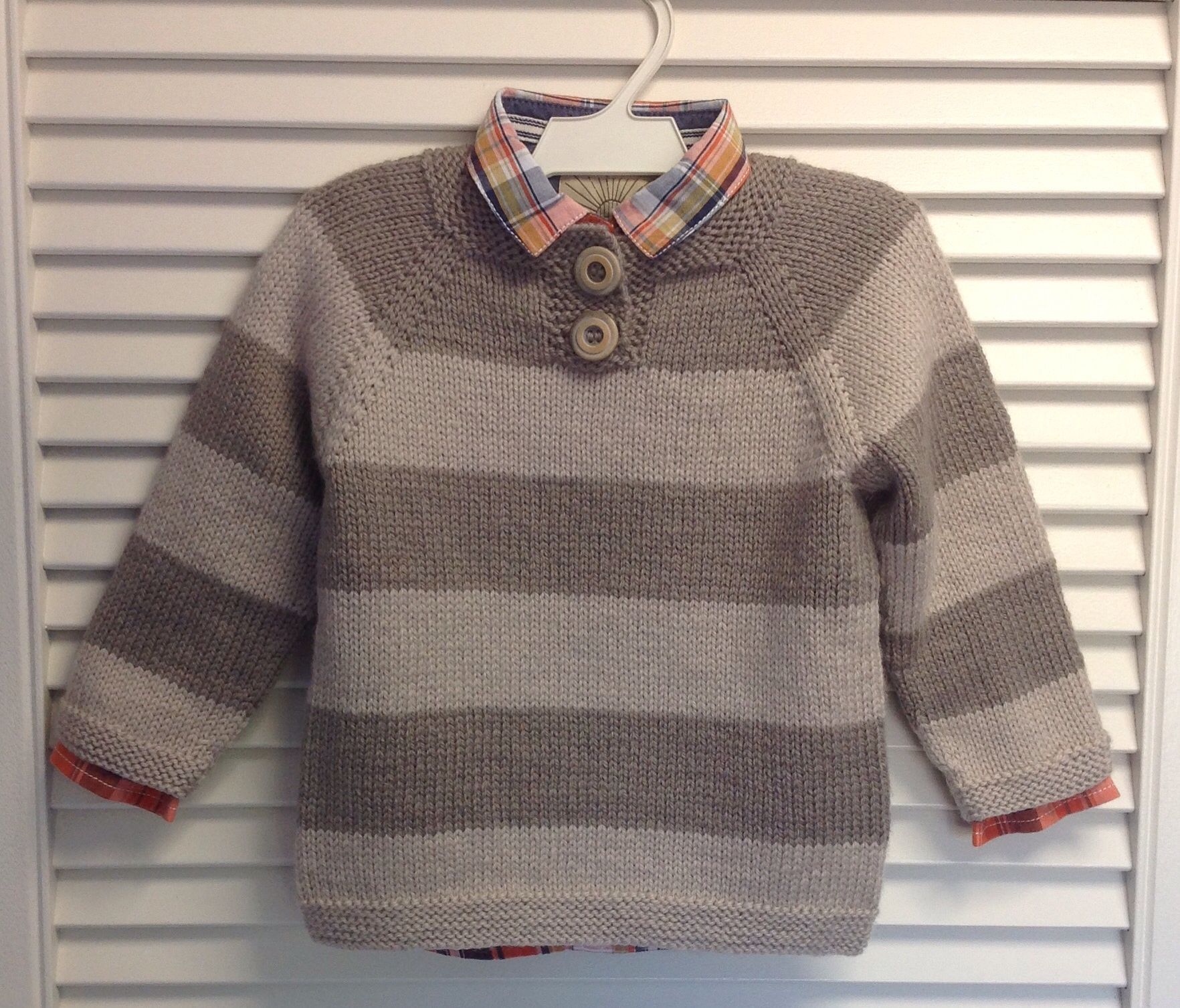 Free pattern in Ravelry. Girls cardigan adapted to a boys jumper ...