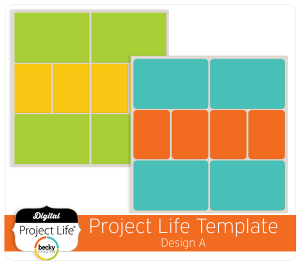 Project Life Template Design A  Photoshop    Project