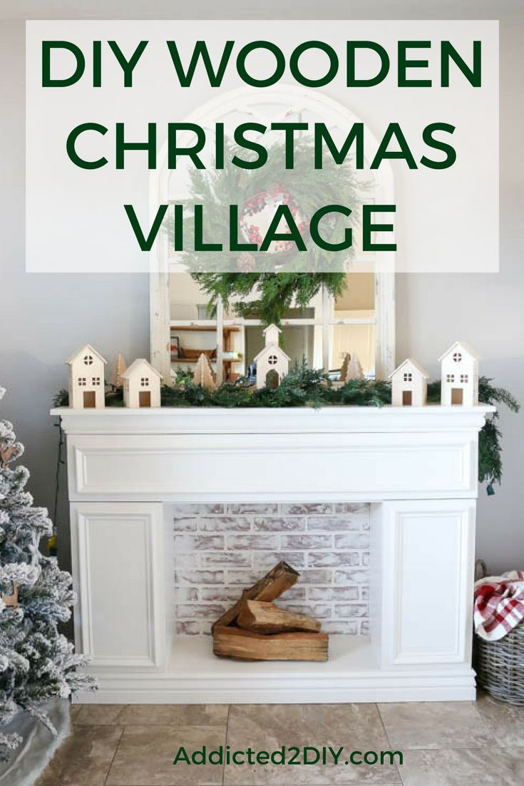 Diy wooden christmas village christmas villages christmas decor